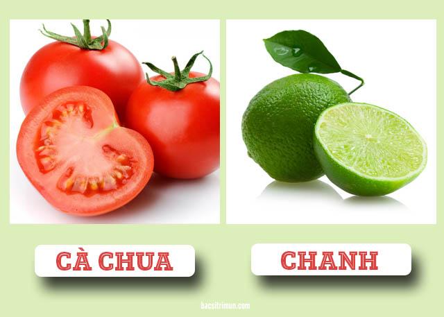 trị mụn cám và mụn đầu đen bằng cà chua và chanh