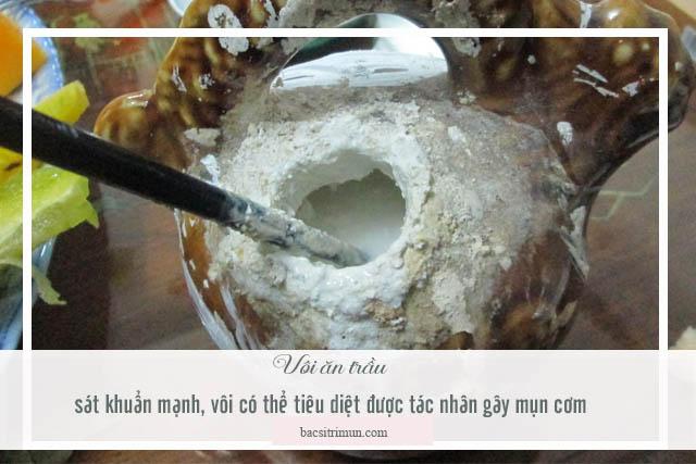 cách trị mụn cơm bằng vôi ăn trầu