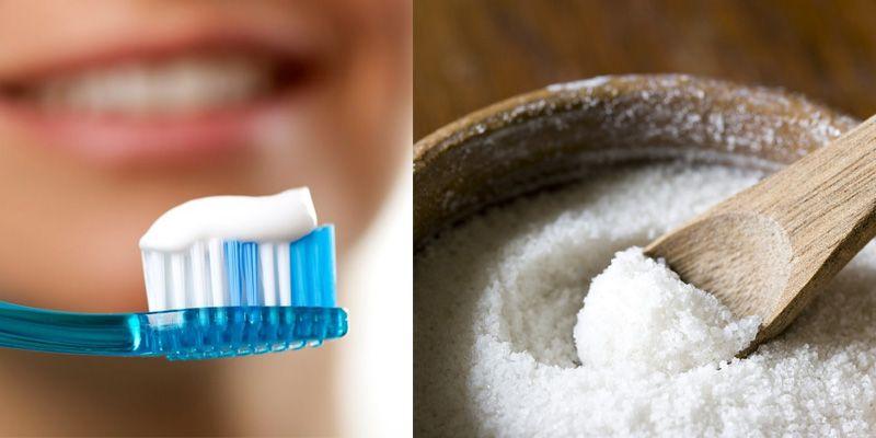 cách điều trị mụn bằng muối và kem đánh răng