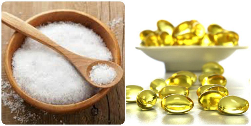 Cách trị mụn bằng muối và vitamin e