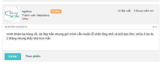 bác sĩ trị mụn giỏi ở Hà Nội bác sĩ Hùng
