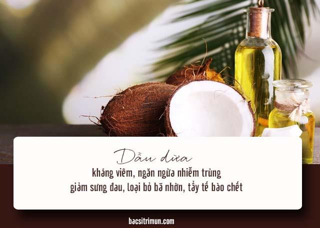 cách trị mụn khi mang thai bằng dầu dừa