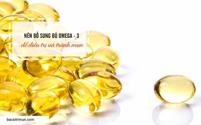 thiếu omega 3 là 1 trong các nguyên nhân gây mụn ở nam giới