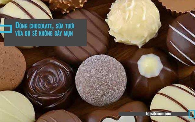 sự thật về mụn trứng cá - chocolate, sữa tươi không gây mụn