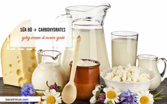 sữa tươi là 1 trong các nguyên nhân gây mụn ở nam giới