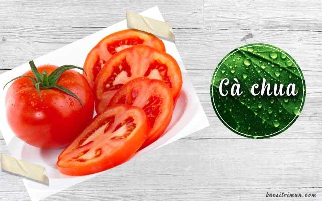 trị mụn cám tận gốc với cà chua