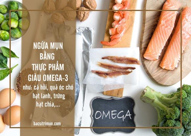 ăn uống ngừa mụn với thực phẩm giàu omega-3