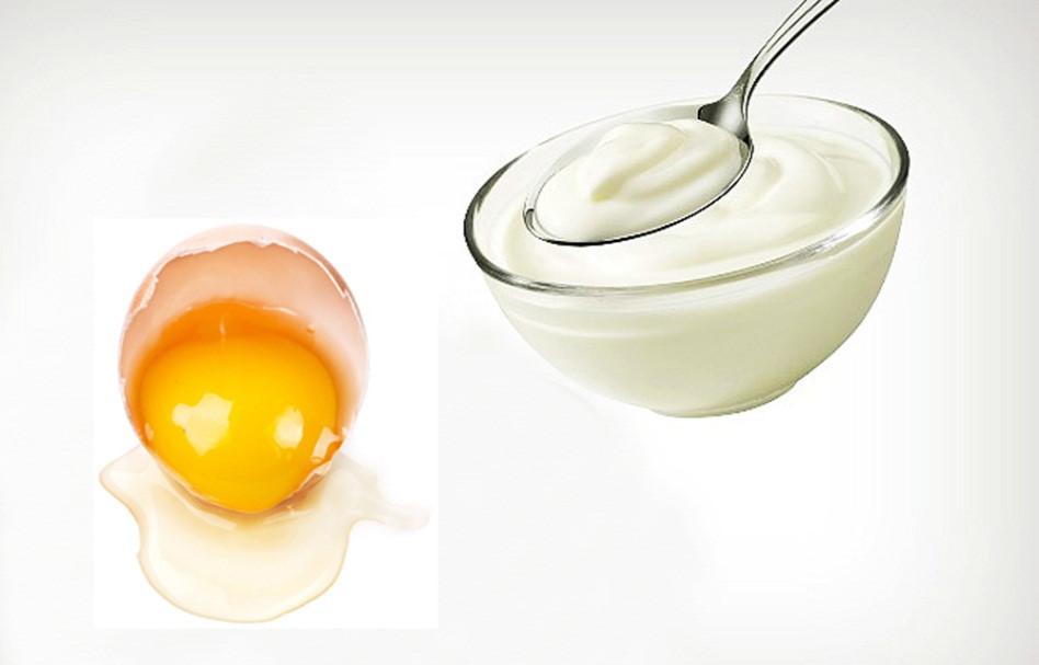 Cách trị mụn trứng cá bằng trứng gà luộc và sữa chua