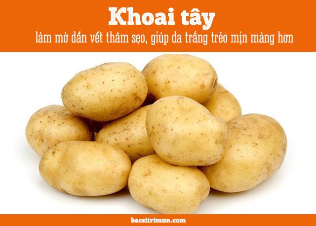 cách trị vết thâm mụn bằng phương pháp tự nhiên với khoai tây