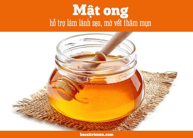 cách trị vết thâm mụn bằng phương pháp tự nhiên với mật ong