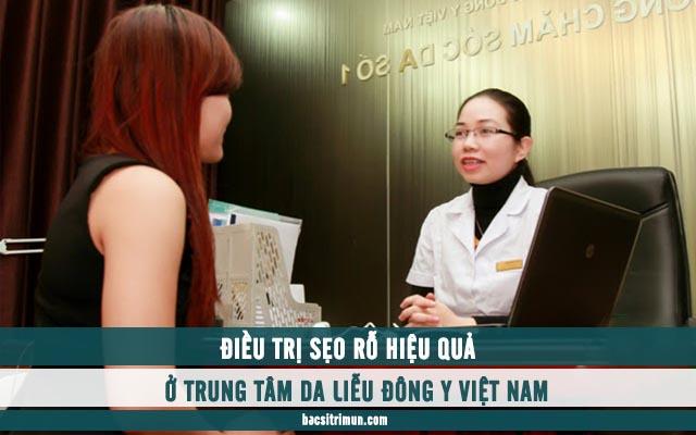 điều trị sẹo rỗ ở trung tâm da liễu đông y