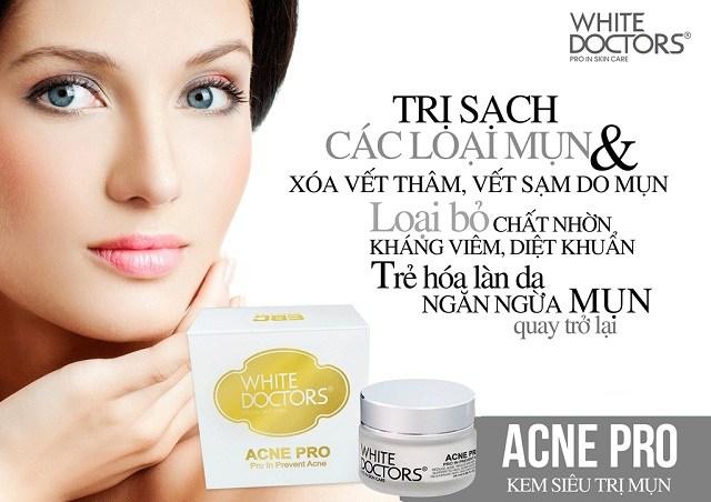 Tác dụng của kem trị mụn White Doctors Acne Pro