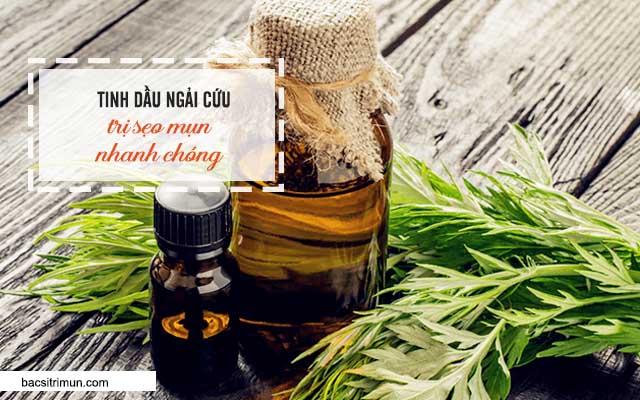 trị sẹo bằng tinh dầu ngải cứu