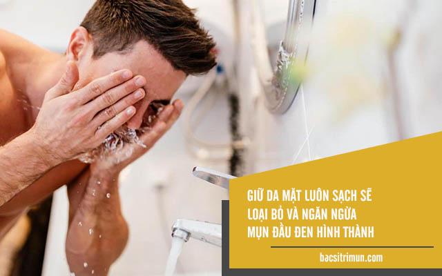 cách trị mụn đầu đen hiệu quả cho nam giới bằng chăm sóc da