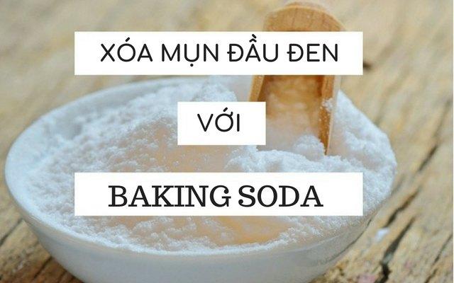 Cách làm hết mụn đầu đen bằng baking soda