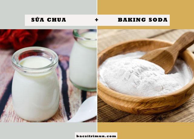 cách trị mụn bằng sữa chua và baking soda