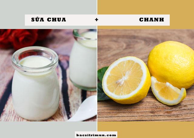 cách trị mụn bằng sữa chua và chanh