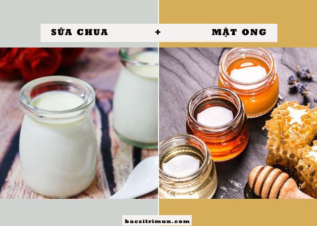cách trị mụn bằng sữa chua và mật ong
