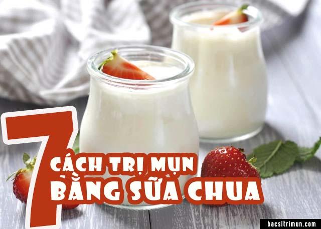 cách trị mụn bằng sữa chua