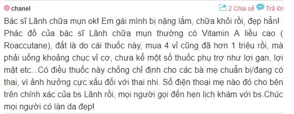 đánh giá địa chỉ trị mụn uy tín ở Hà Nội