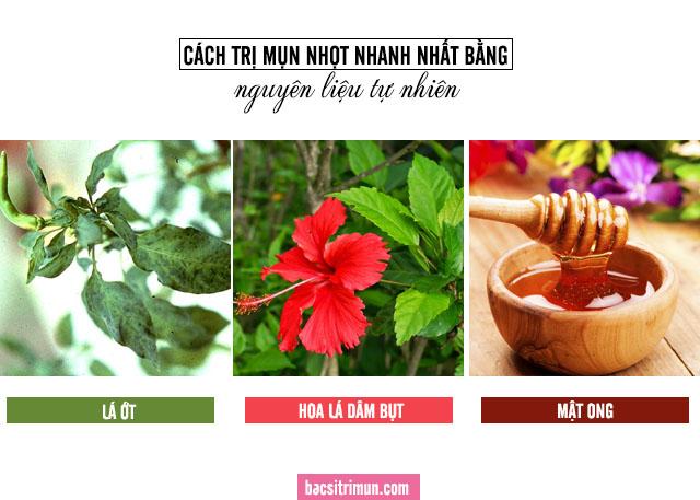 cách trị mụn nhọt bằng lá ớt, hoa dâm bụt và mật ong