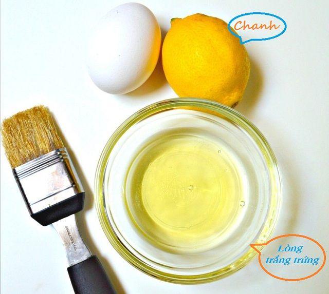 Cách làm mặt nạ trị mụn từ trứng gà và chanh