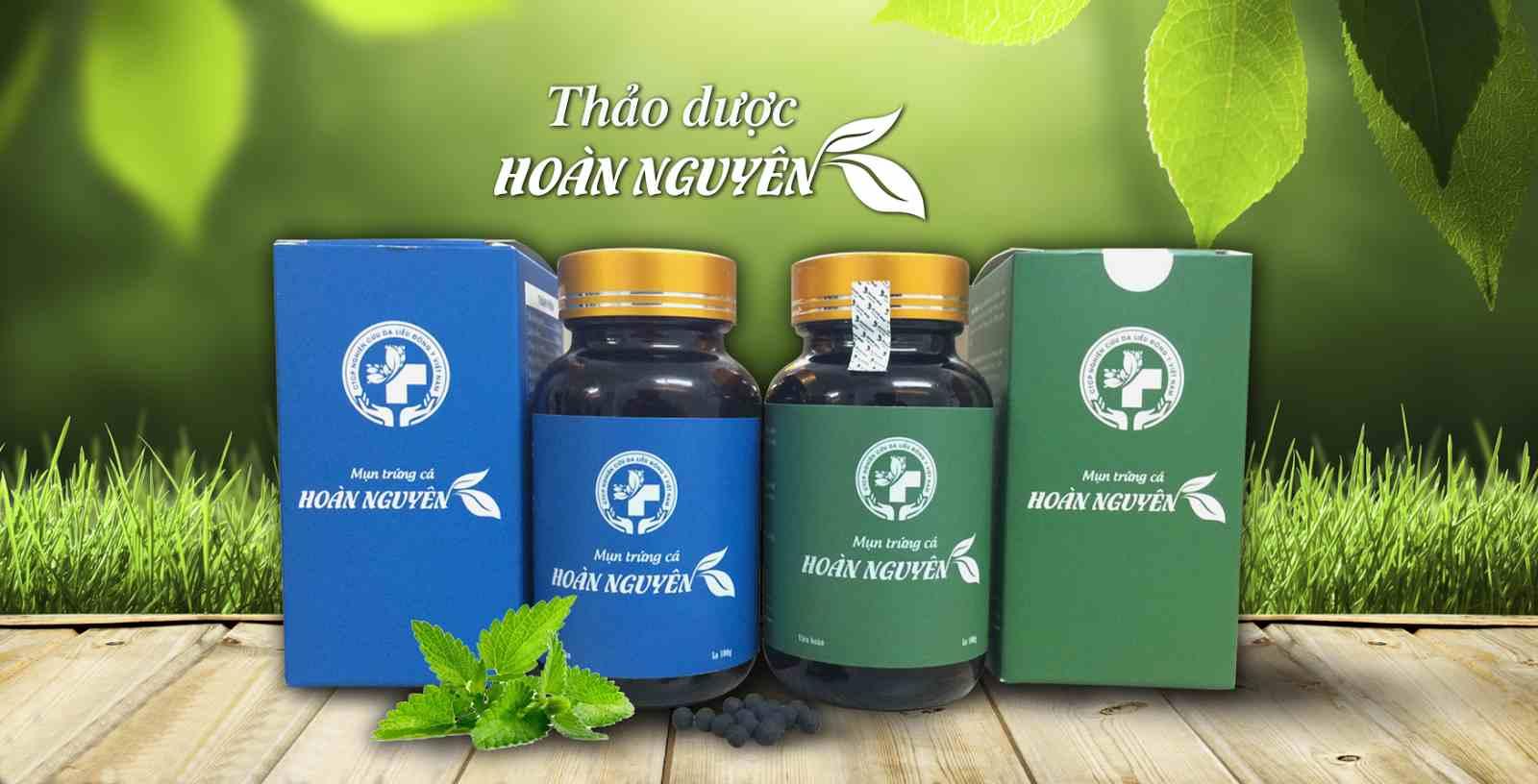 Bộ sản phẩm thảo dược trị mụn trứng cá Hoàn Nguyên