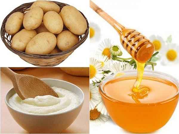 Chăm sóc da mụn tại nhà bằng khoai tây, mật ong và sữa chua