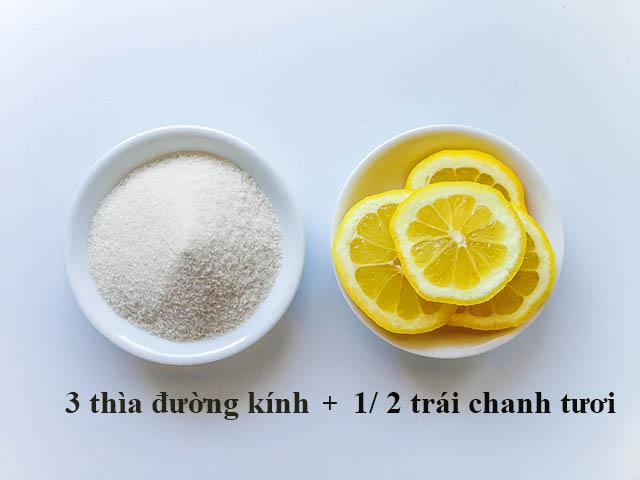 Mẹo trị mụn cám nhanh bằng chanh và đường