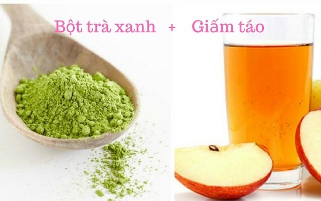 Thuốc trị mụn ẩn hiệu quả từ bột trà xanh và giấm táo