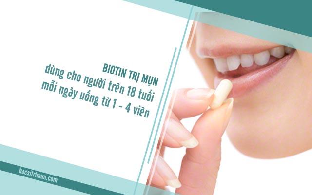 sử dụng biotin trị mụn