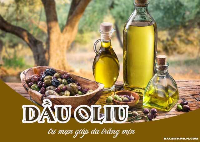 Cách dùng dầu oliu trị mụn