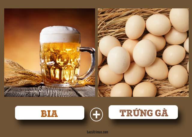 mặt nạ trắng da tự nhiên từ bia và trứng gà