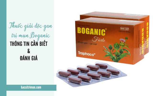 thuốc giải độc gan trị mụn Boganic