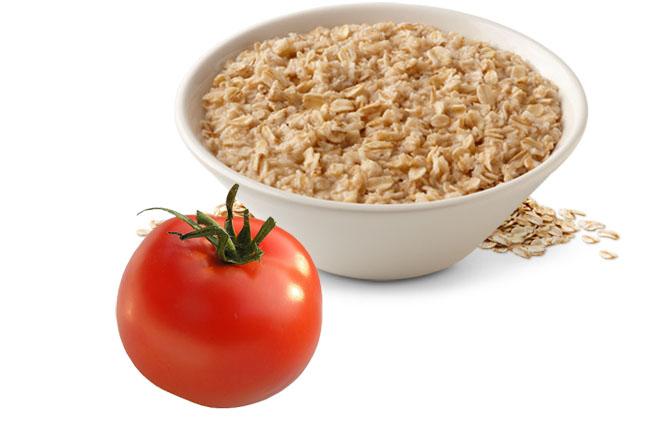 Kết quả hình ảnh cho yến mạch cà chua