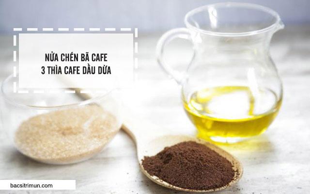 cách làm trắng da bằng cafe và dầu dừa