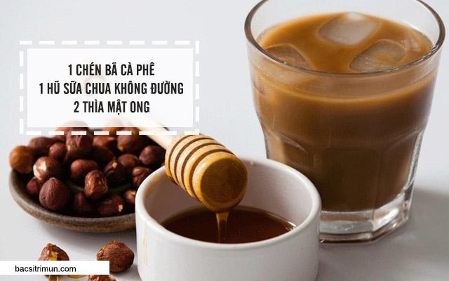 cách làm trắng da bằng cafe và mật ong