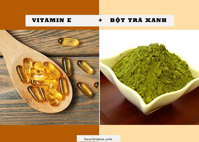 Cách trị sẹo rỗ bằng vitamin e và bột trà xanh