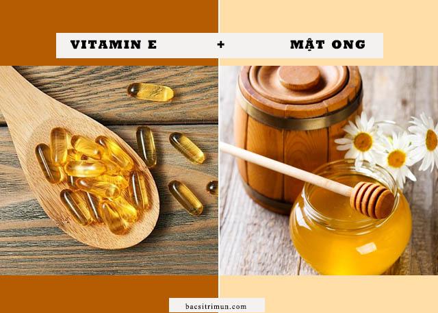 Cách trị sẹo lõm bằng vitamin e và mật ong