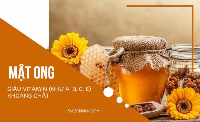 chữa cháy nắng bằng mật ong
