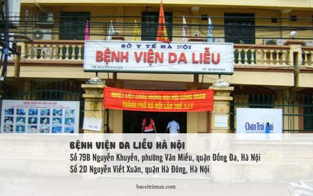 địa chỉ trị sẹo rỗ ở Hà Nội là bệnh viện da liễu Hà Nội