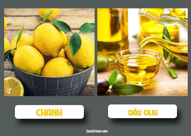 cách trị mụn bằng chanh và dầu oliu