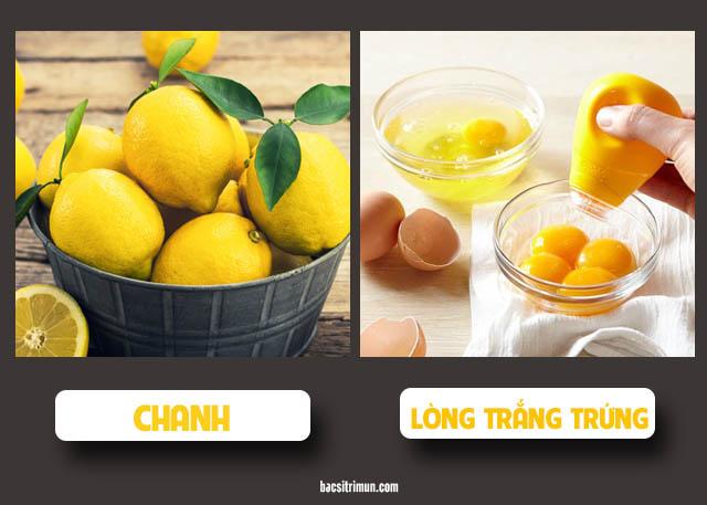 cách trị mụn bằng chanh và lòng trắng trứng gà
