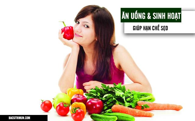 ăn uống sinh hoạt hạn chế sẹo