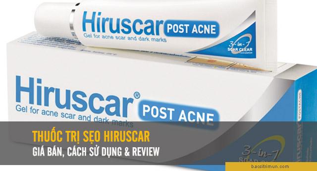 thuốc trị sẹo Hiruscar