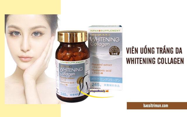 viên uống trắng da Whitening collagen