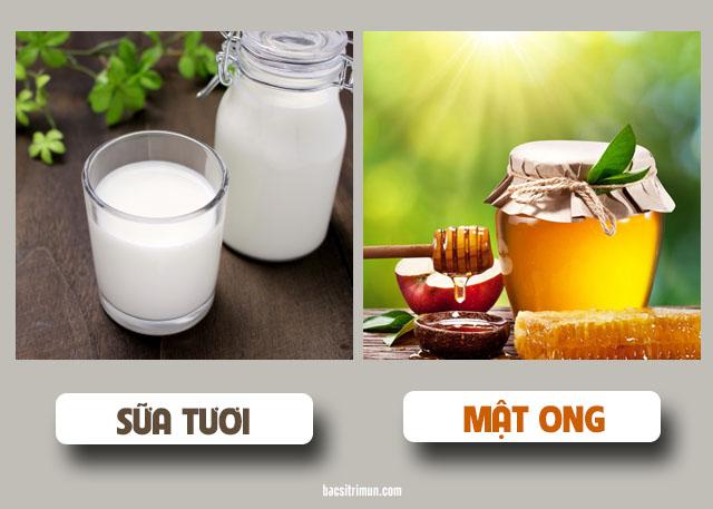 cách làm sáng da mặt bằng sữa tươi và mật ong