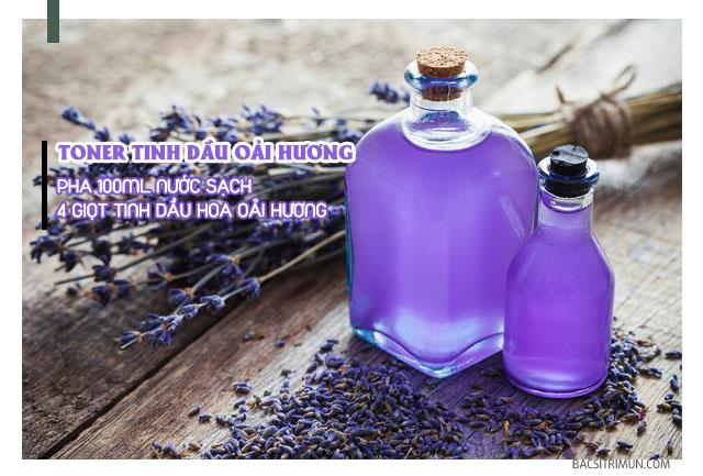 Tinh dầu oải hương trị mụn