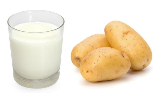 Cách trị mụn bằng sữa tươi và khoai tây