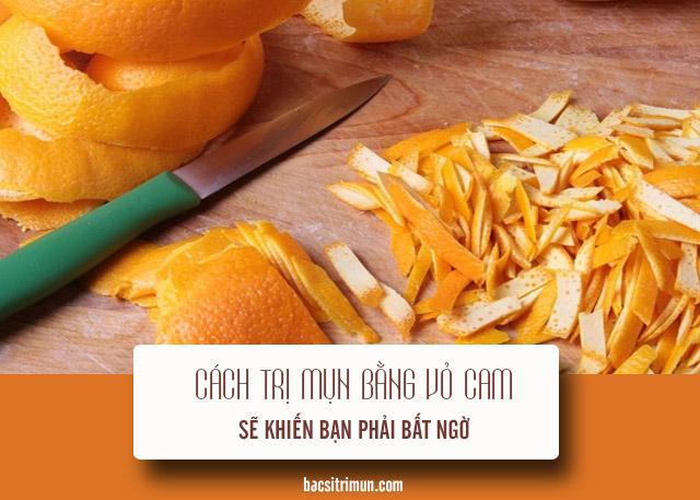 cách trị mụn bằng vỏ cam